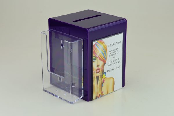 A6 Suggestion Collection Ballot Comments Charity Box Purple