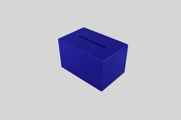 Small Ballot Comments Collection Suggestion Box Dark Blue