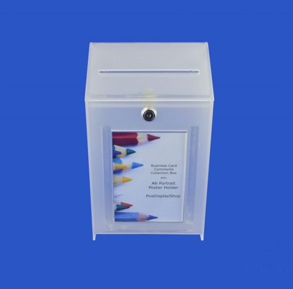 Small Lockable Ideas Collection Suggestion Box Frosted