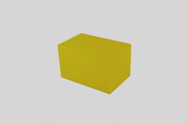 Small Ballot Comments Collection Suggestion Box Yellow