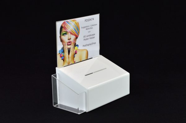 Collection / Suggestion Box with A5L Poster Holder