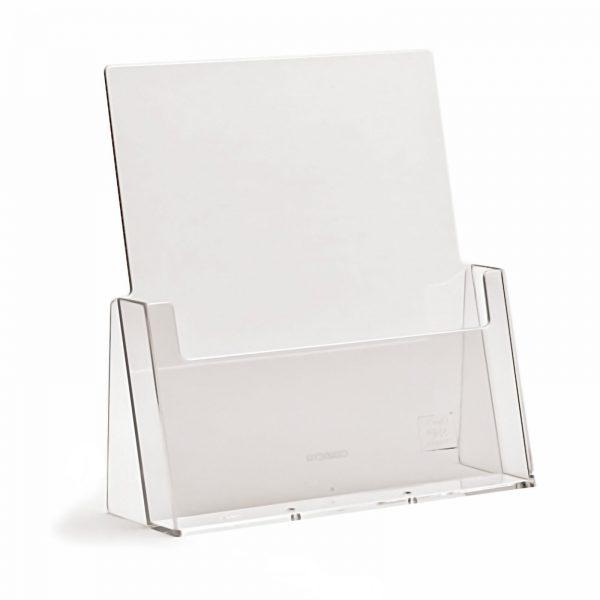 Free Standing Leaflet / Brochure Dispenser / Holder Clear Plastic