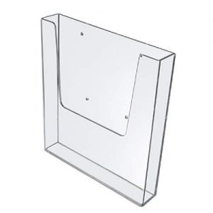 Wall Mountable Leaflet / Brochure Dispenser Clear Plastic