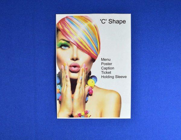 10 x Portrait Clear PVC 'C' Shape Menu / Poster Holder