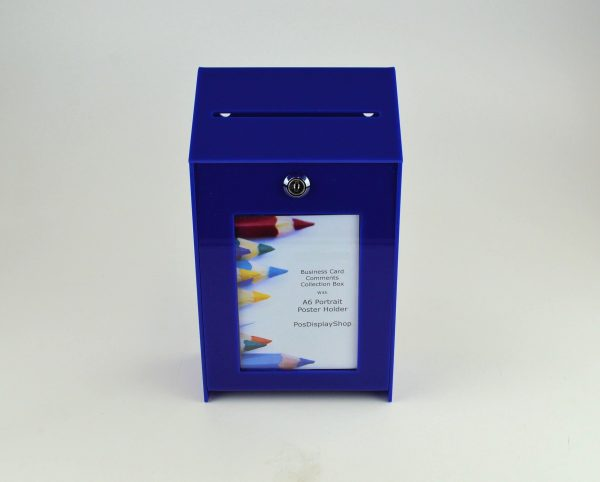 Small Lockable Ideas Collection Suggestion Box Dark Blue