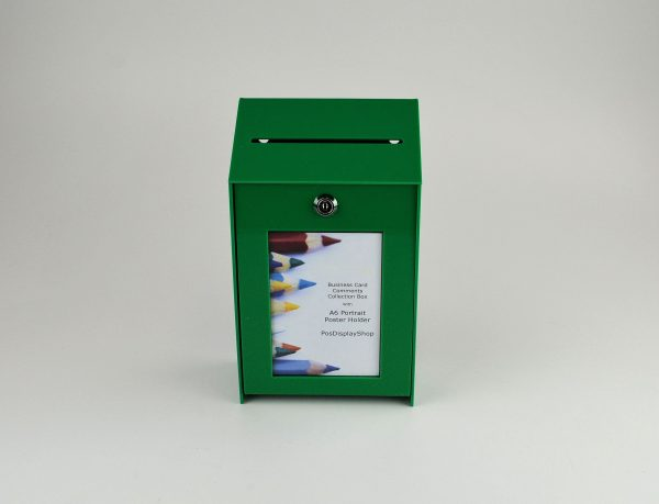 Small Lockable Ideas Collection Suggestion Box Green