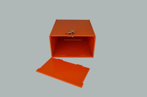 Lockable Collection Box / Suggestion Box Orange