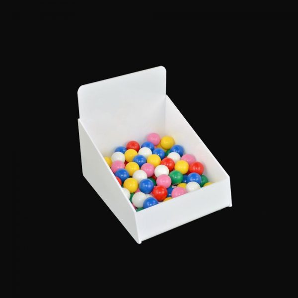 Counter Retail Storage Basket White