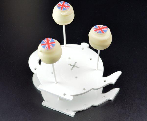 Cake Pop / Lollipop Stand - White Teapot Shape