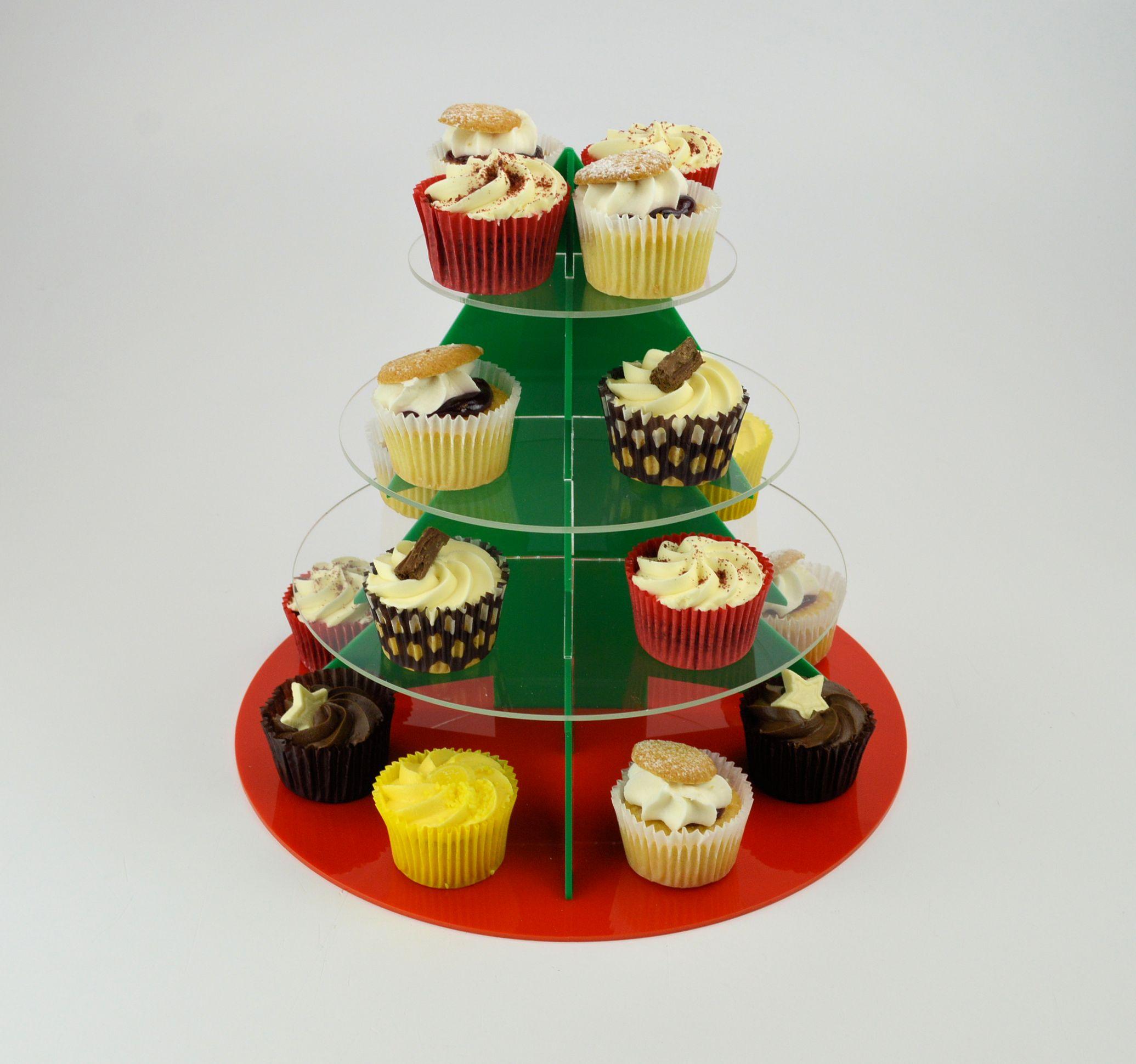 Christmas Tree Muffins: Christmas Tree Cup Cake Stand