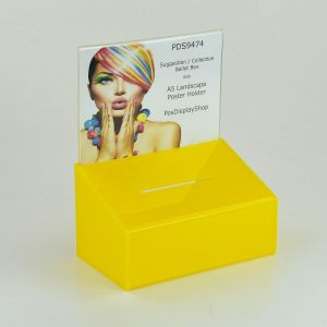 Collection / Suggestion Box with A5 Poster Yellow