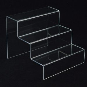 3 Tier / Step Clear Acrylic Shoe Display / Plinth