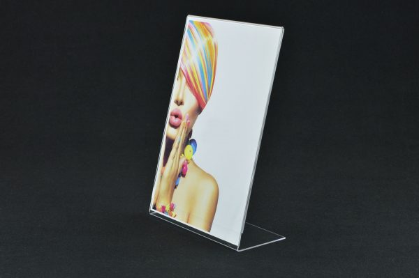 Portrait Clear Acrylic Angled Poster / Price List / Menu Holder