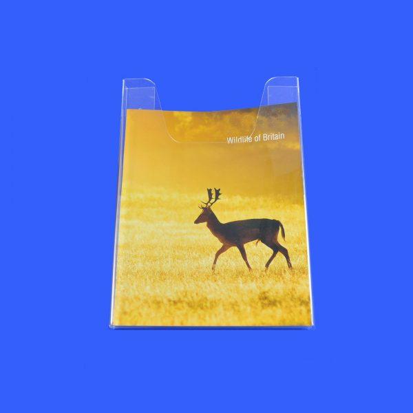 A3 Portrait Clear Acrylic Brochure / Leaflet Holder / Dispenser