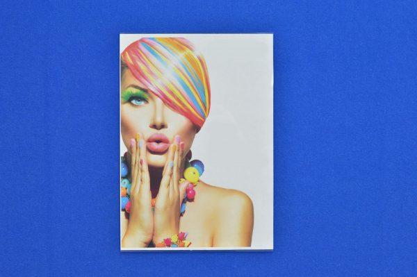 Portrait Clear Plastic 'U' Shape Wall Mountable Menu