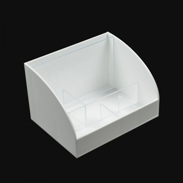 Table top Menu Cafe Restaurant Holder White Acrylic