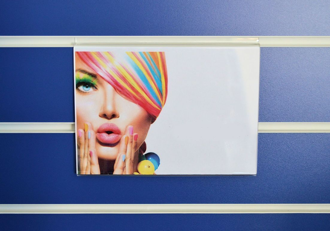 A5 Landscape Acrylic Slatwall Display Price Menu Holder Poster