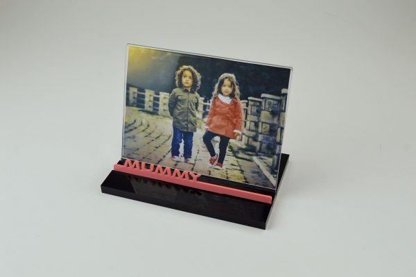 Mummy 7x5 Photo / Picture Frame Black Gloss Acrylic