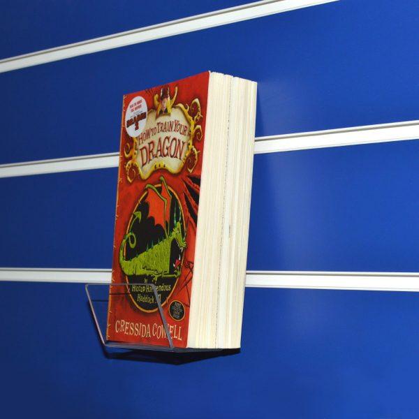 Slatwall Book / CD / DVD / Product Holder Clear Acrylic