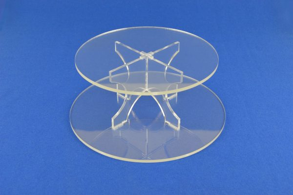 2 Tier Round Cup Cake Muffin Afternoon Tea Cake Stand Clear Acrylic