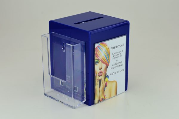 A6 Suggestion Collection Ballot Comments Charity Box Dark Blue