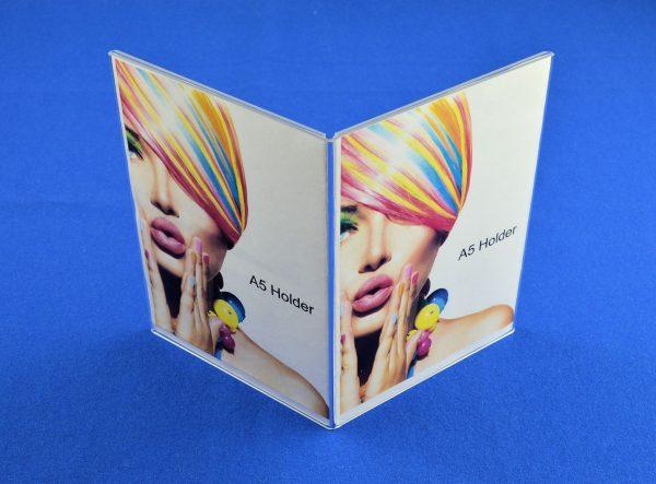 4 Sided A5 Portrait Price List / Menu Holder Clear Acrylic