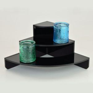Curved corner Black 3 Tier / Step Display Stand