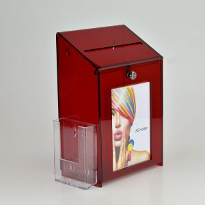 Lockable Collection Box / Suggestion Box Red
