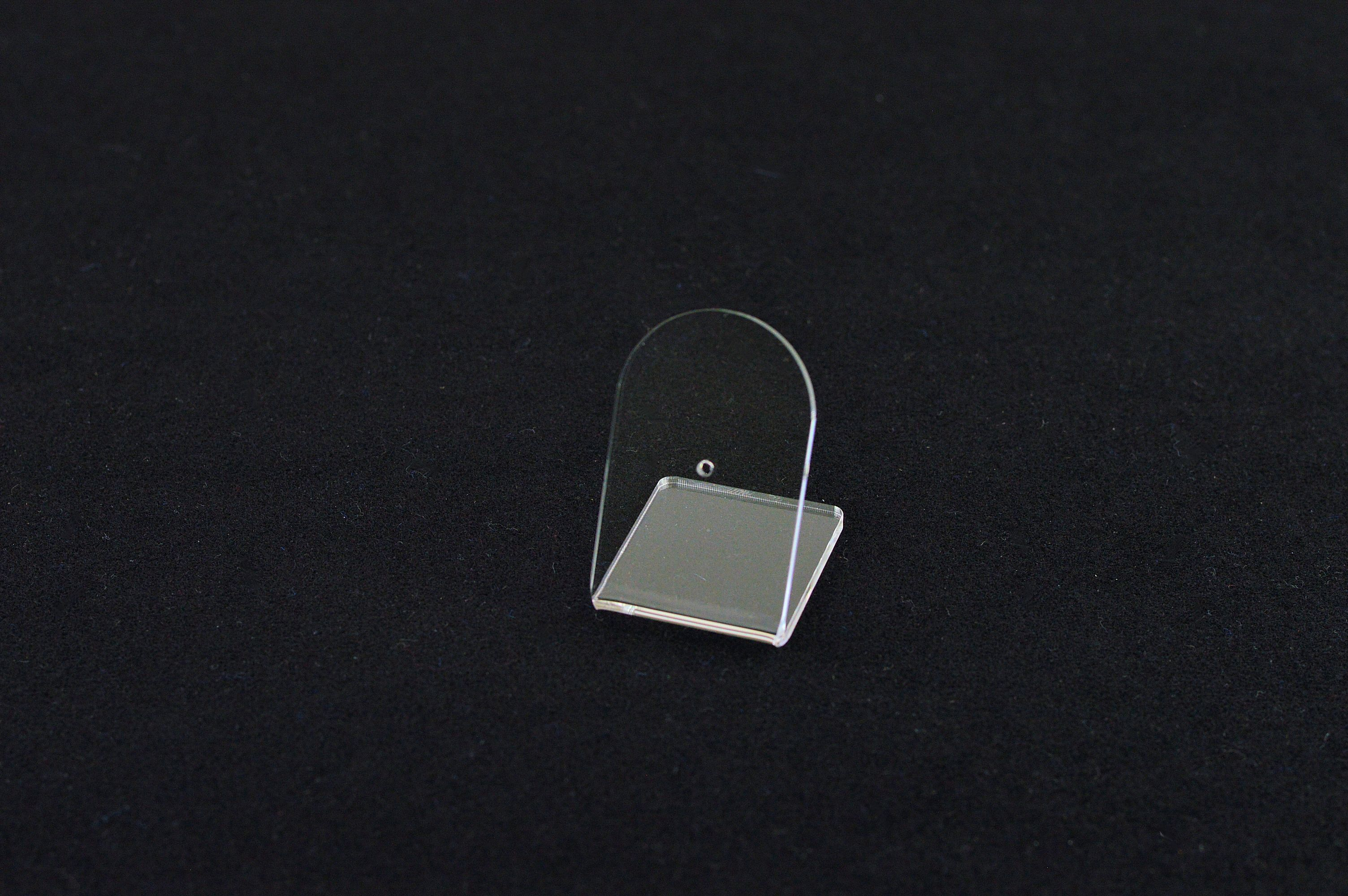 2 x Pin Badge Display Stand / Holder - Clear