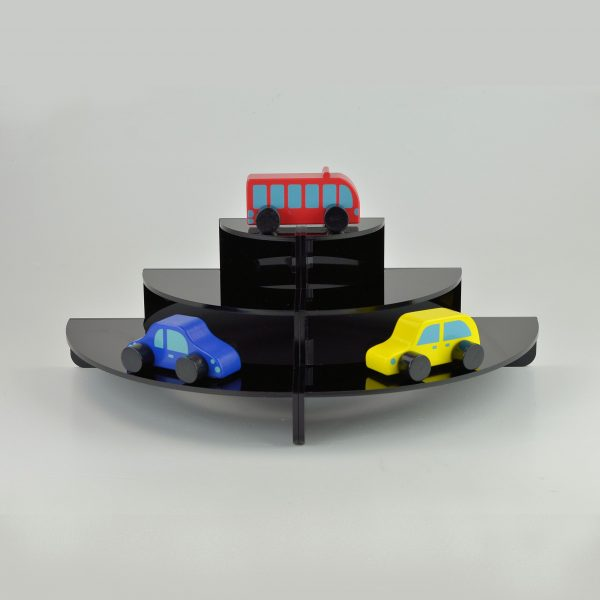 Modern curved Black 3 Tier / Step Display Stand