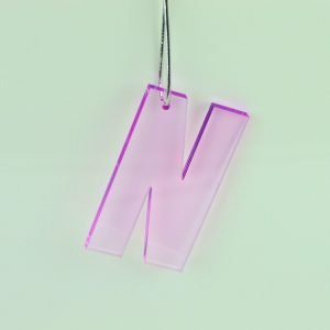 Pink Hanging Letter - Initial