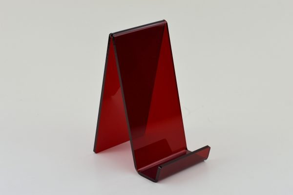 acrylic display stand red