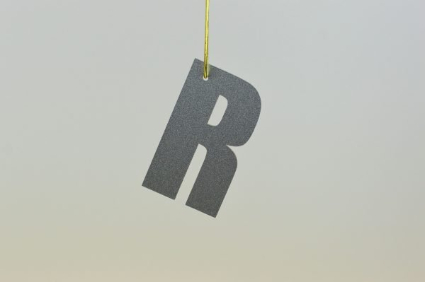 Christmas Hanging Letter Silver