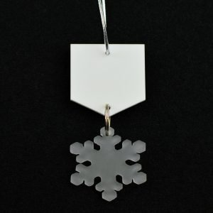 Frosted Snowflake Hanging Decoration